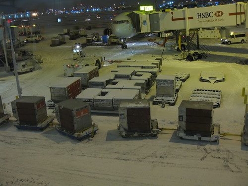 Toronto Pearson Airport after the snow storm