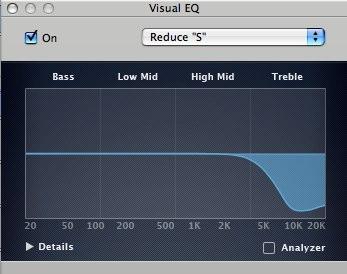 """""""Warm 2"""" - Visual EQ settings"""
