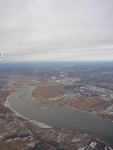The Passaic River in Newark, NJ