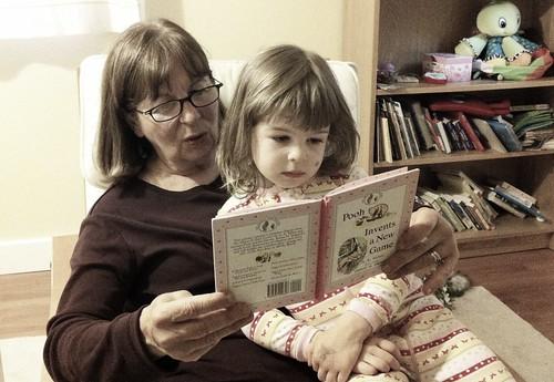 Grandma Susan Reads to Ellie