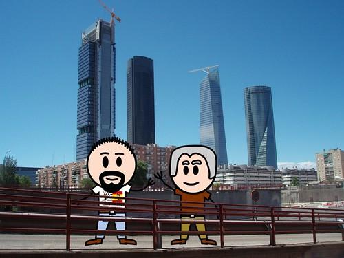 LostInBrittany et les gratteciels de Madrid