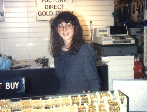 1991ish - Ravi's random picture of some girl from Potomac Mills jewely store - we dared him - (by Ravi S) - 0440