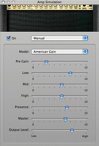 """Warm 2"" - #2 Amp Simulation settings"