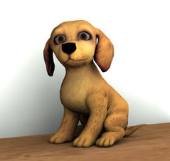 Our new yellow lab puppy is ready for love at Digital Dollhouse
