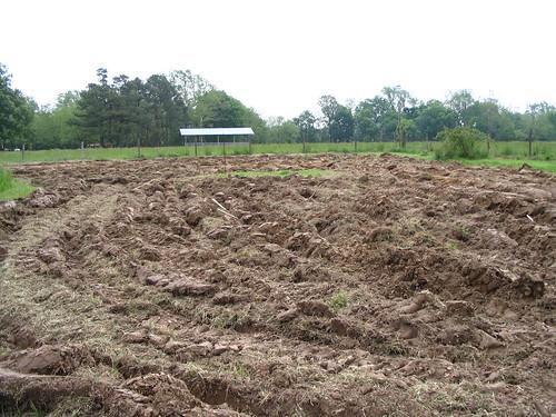 plowed backyard
