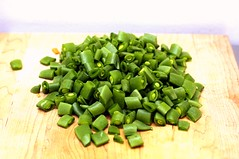 diced sugar snaps