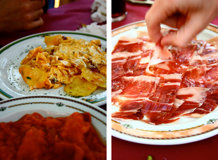 tortilla and jamon