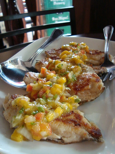 Pan Fried Tilapia with Fresh Mango Salsa by Botong's Up