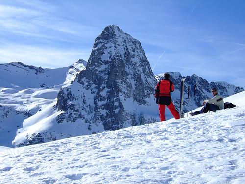 Bonitos picos desde la ampliación de Portalé