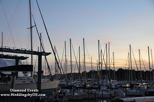 Port Annapolis Marina at sunset