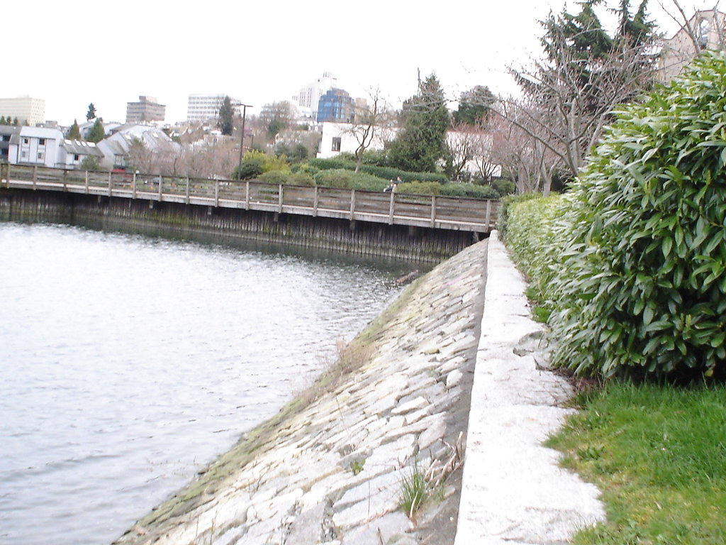 The seawall at Granv Island False Creek