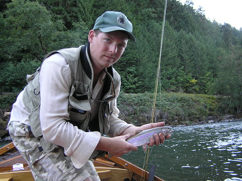 Me with a Middle Fork Willamette Rainbow