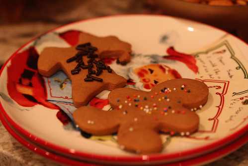 Gingerbread Cookies and Santa
