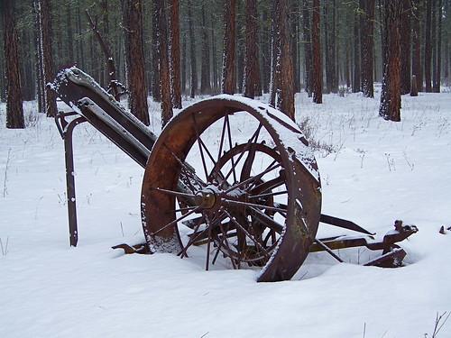 Old hay mower