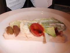 Caesar with a twist on pate