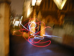 Light Graffiti at Southwark Cathedral