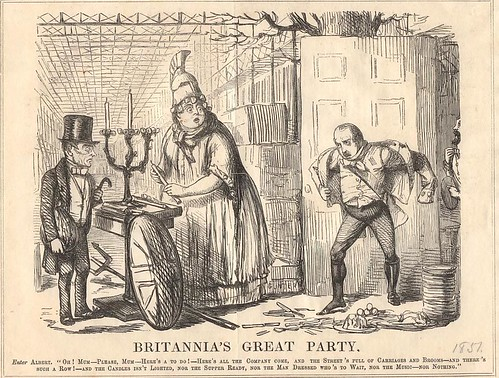 editorial cartoon: Britannia's Great Party - Punch on the Prince Consort and the Exhibition 1851