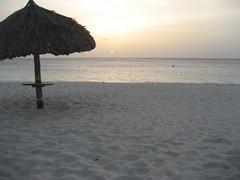 Palapas at Eagle Beach