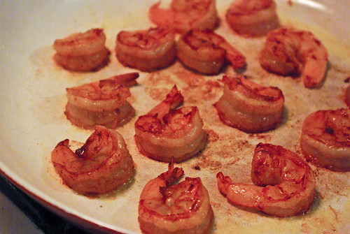 searing shrimp