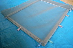 screen window maintenance #5 placing screen with pinching