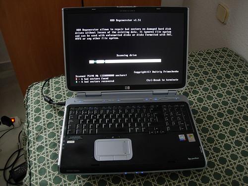 Reparando el portatil HP