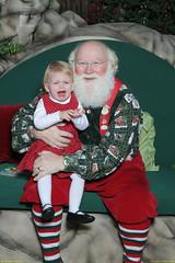 Claire in Santa's lap
