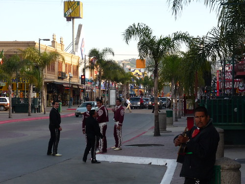 Mariachi players waiting for a gig, Tijuana