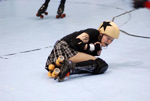 ICT roller girl down