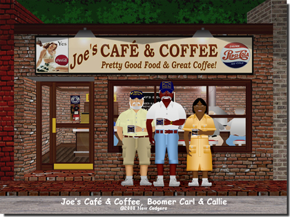 Joe's Café & Coffee, Boomer & the McIntyres ©2008 New Codgers