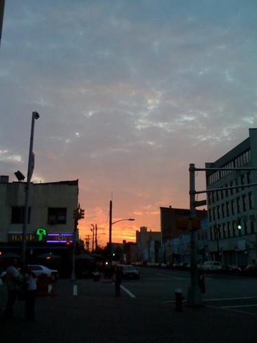 A Jersey City sunset