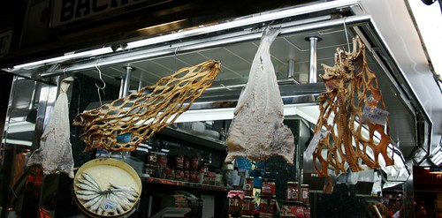 All sorts of dried fish - Boqueria, Barcelona