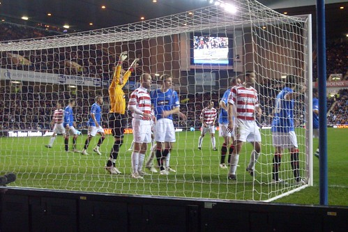 Rangers defend a corner