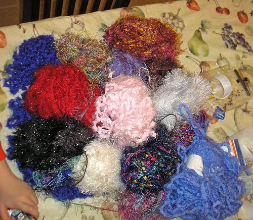 Yarn ornaments (8)