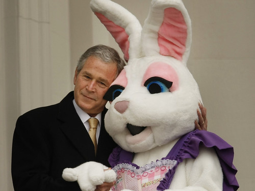 George Bush and the Easter Bunny