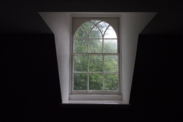 Photo of soft light coming through a dormer window from the early 19th century by Ellen Brenna Dougherty