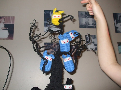 Ninja minions in the spooky tree by you.