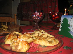 traditional christmas morning food pastries