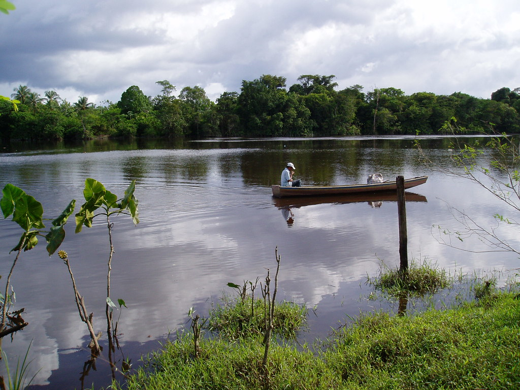 Canoel on the Demerara River
