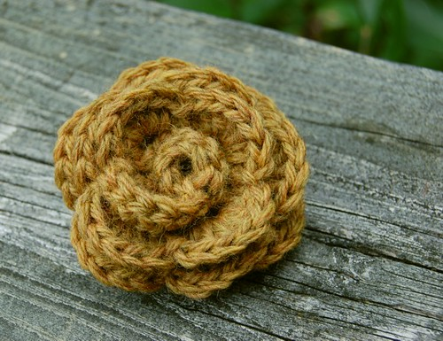 crocheted flower