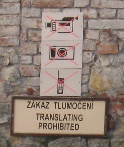 No pictures, no translation when visiting Karlštejn