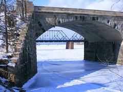 Bridges over frozen waters