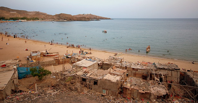 The public beach of Aden, Yemen