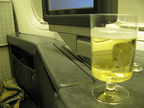 Champagne Welcome to First Class