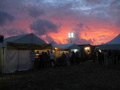 Evening view in front of the tent