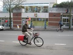 Tim riding the Oma