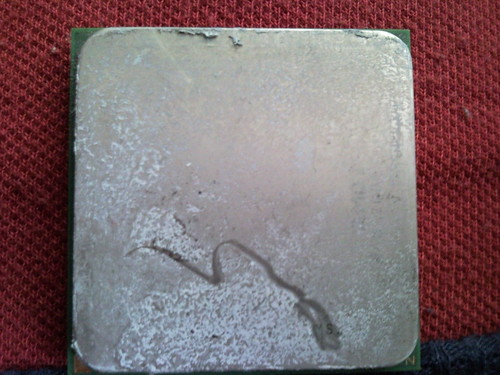 Processor with Remnants of Thermal Grease