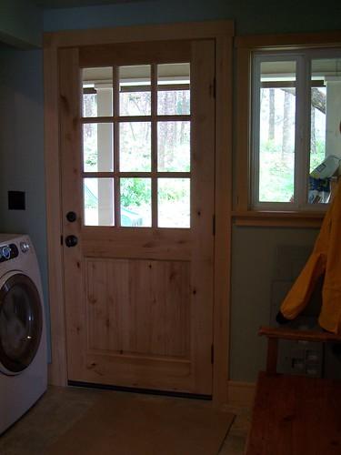 laundry room back door