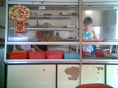 Sandakan fish noodles stall