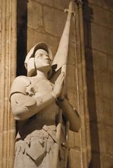 joan of arc at the Notre-Dame de Paris