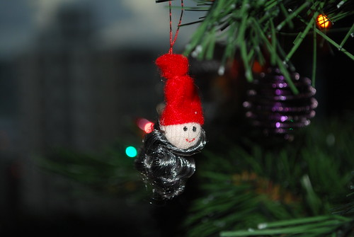 Tomte in the Xmas tree